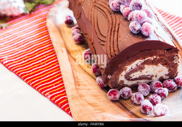 buche de noel cake stock photos buche de noel cake stock. Black Bedroom Furniture Sets. Home Design Ideas