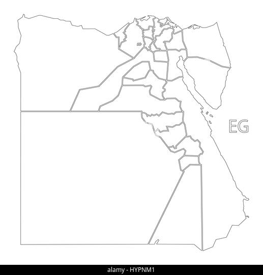 Map Of Egypt Cut Out Stock Images Pictures Alamy - Map of egypt outline