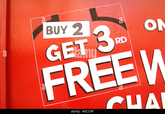 how to advertise buy 2 and get third for free