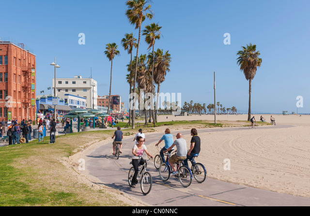 Venice Beach Bike Path Stock Photos Venice Beach Bike Path Stock