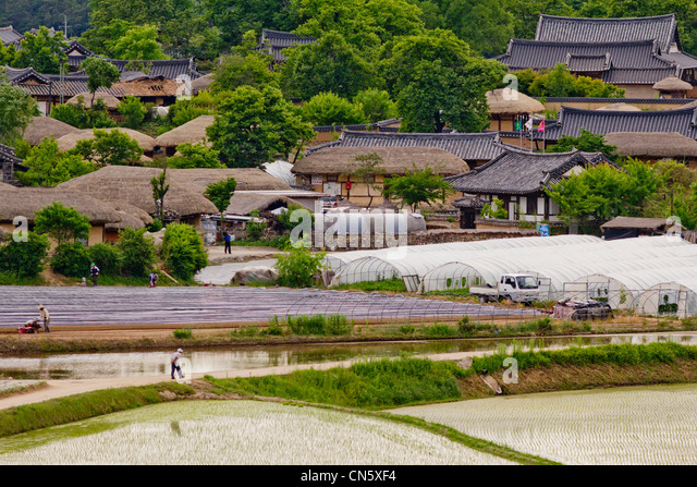 Andong-si South Korea  city photos gallery : South Korea, North Gyeongsan Province, Andong, Hahoe Traditional ...