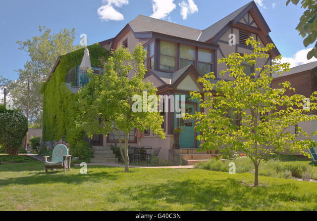 Urban Home And Garden In Boise Idaho. Stock Image