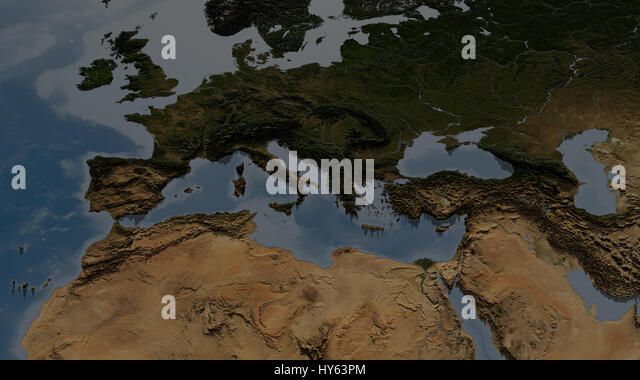 Relief Map Europe Africa Stock Photos Relief Map Europe Africa