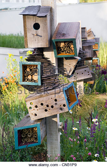 Futuristic Nature House Design: Insect Hotel Stock Photos & Insect Hotel Stock Images