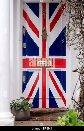 Door painted with Union Jack flag - Stock Image & Union Jack Door Stock Photos \u0026 Union Jack Door Stock Images - Alamy
