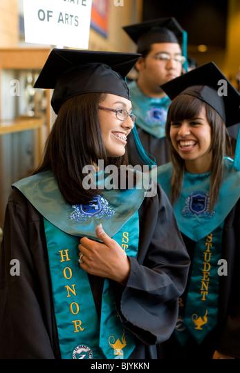 Happy Hispanic High School Seniors Stock Photos & Happy Hispanic ...