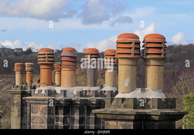 Old Chimney Pots On House Stock Photos Amp Old Chimney Pots