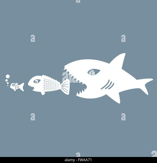 Usurer stock photos usurer stock images alamy for Big fish eat little fish