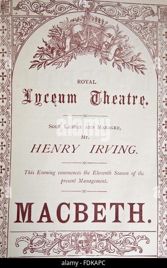 mr henry irvings macbeth Lives of shakespearian actors: part v by tetsuo kishi mr henry irving as richard the third' mr irving's macbeth', examiner.