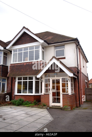 Semi Detached House semi detached house driveway stock photos & semi detached house