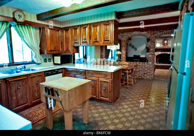 American House Interiors, Custom Designed Kitchen, Natural Wood Cupboards,  Inside Room,