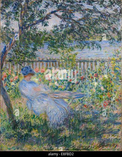 The Terrace At Vétheuil. Artist: Monet, Claude (1840 1926)