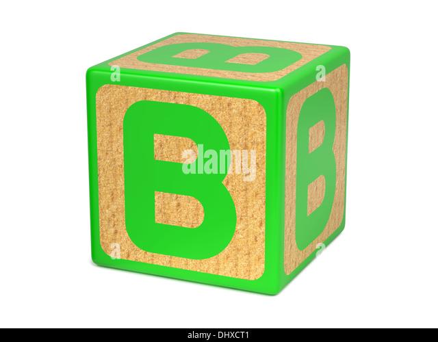 Letter B Building Block Alphabet Stock s & Letter B Building