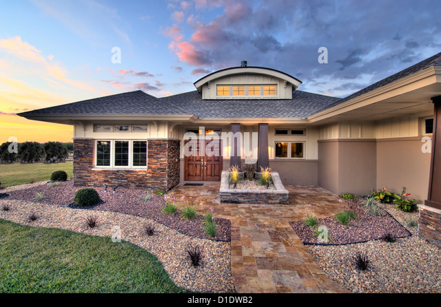 Front Elevation Landscaping : Front elevation entrance stock photos