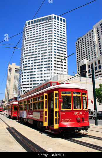 famous new orleans tram stock photos famous new orleans tram stock images alamy. Black Bedroom Furniture Sets. Home Design Ideas
