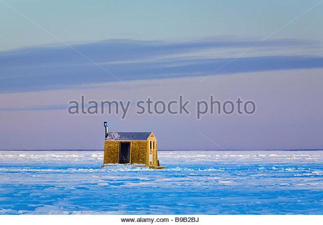 Ice on lake winnipeg stock photos ice on lake winnipeg for Lake winnipeg ice fishing