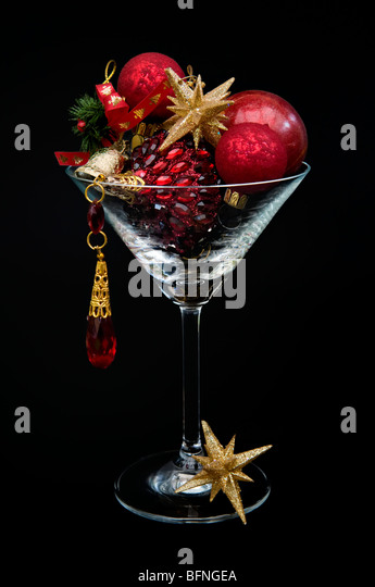Sparkly background gold stock photos sparkly background for Christmas in a glass cocktail