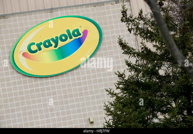 a logo sign outside of a facility occupied by crayola in bethlehem pennsylvania on february - Crayola Sign