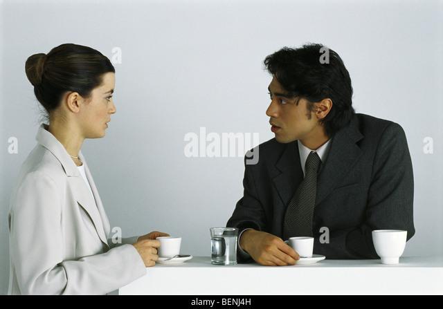 Colleagues At Break