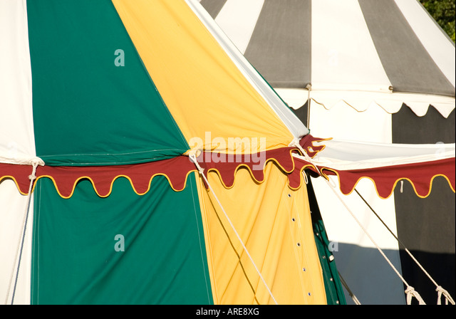 Close Up of Round Canvas Tent and Decorative Trim Detail Tewkesbury Medieval Festival Gloucestershire & Close Up Round Canvas Tent Stock Photos u0026 Close Up Round Canvas ...