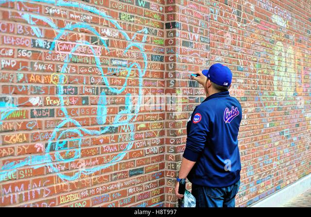 During The Playoffs And, Especially The World Series, Wrigley Field Walls  Became A Place