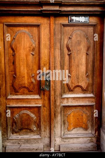Rustic Wooden Double Doors In Stock Photos Rustic Wooden Double