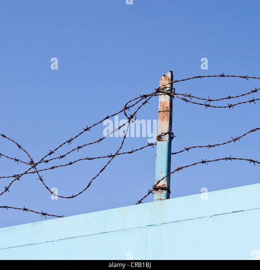 Barbed Wire Gate Stock Photos Amp Barbed Wire Gate Stock