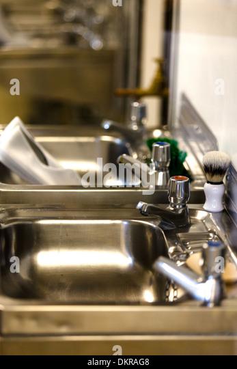 Bathroom Sinks Edinburgh shaving brush bathroom sink stock photos & shaving brush bathroom