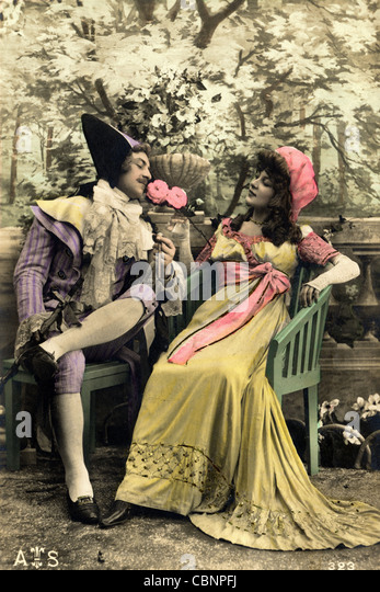french upper class w th century stock photos french upper 18th century upper class garish french lovers stock image