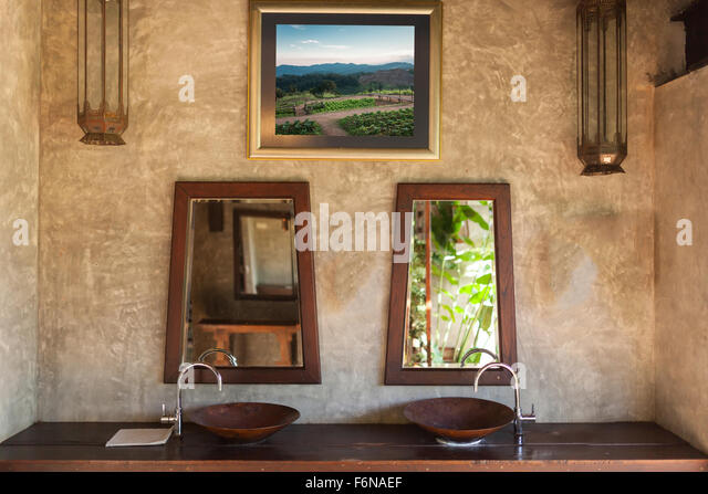 thai bathroom. Fragment of a local thai bathroom  Stock Image Thai Toilet Photos Images Alamy