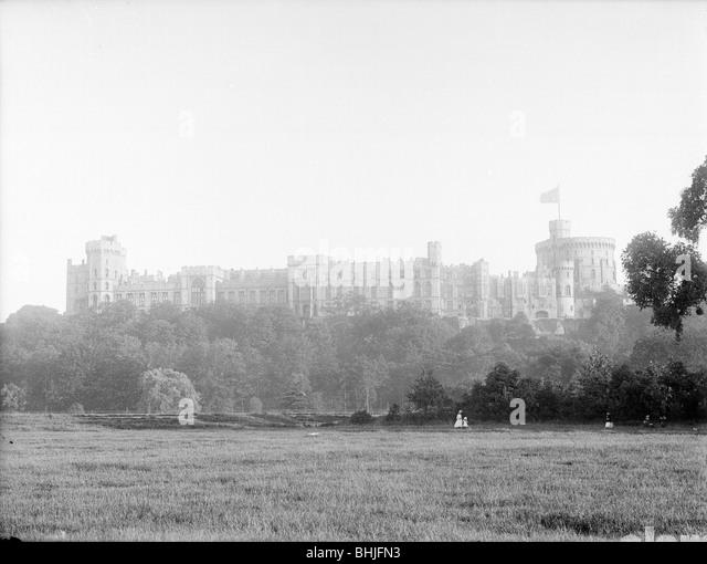 Windsor Castle From Home Park Berkshire C1860 C1922 Artist
