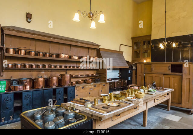 The Historic Kitchens At Petworth House West Sus England Uk Stock Image