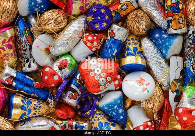 Chocolate christmas tree decoration stock photos for Decoration 3 chocolat