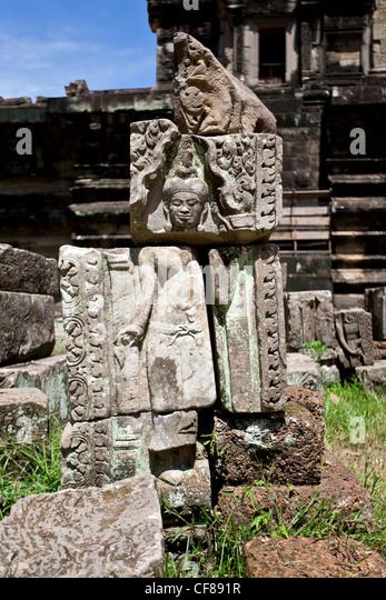 Cambodia stone carving stock photos