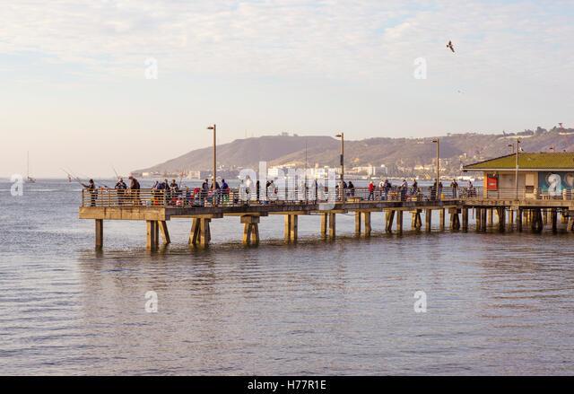Fishing wharfs stock photos fishing wharfs stock images for Pier fishing san diego
