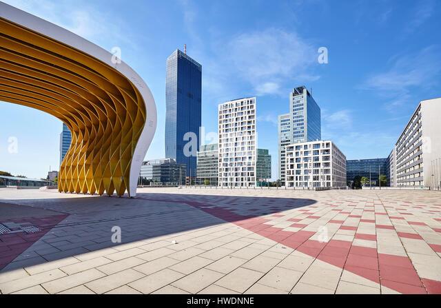 vienna austria august 14 2016 modern architecture of vienna donau city complex - Modern Architecture Vienna