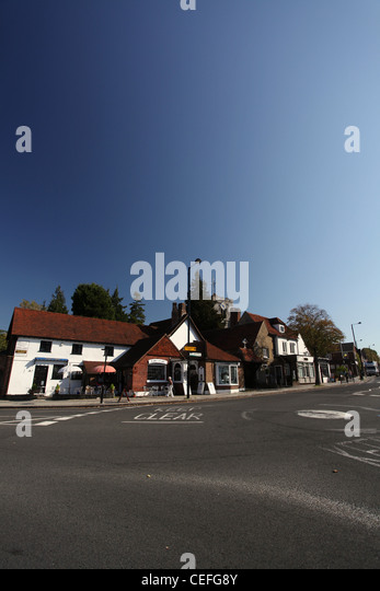 A view of St  Martin s Church and High Street in Ruislip  London Borough of. Ruislip High Street Stock Photos   Ruislip High Street Stock