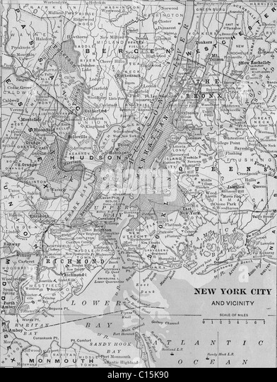 New York City Map Vintage Stock Photos New York City Map Vintage - New york city map drawing