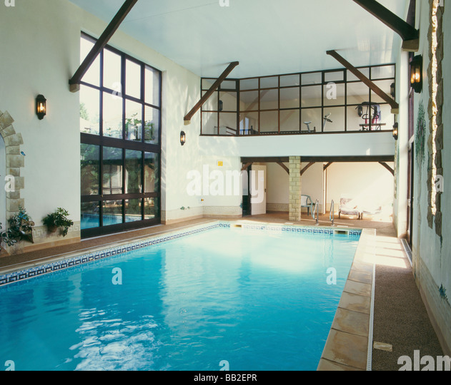 Indoor swimming pool uk stock photos indoor swimming for Private indoor swimming pools