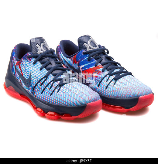 "Nike KD VI NSW Lifestyle ""Birthday""; Nike KD 8 (GS) Navy Blue, Light Blue  and Red Youth's Basketball Shoes"