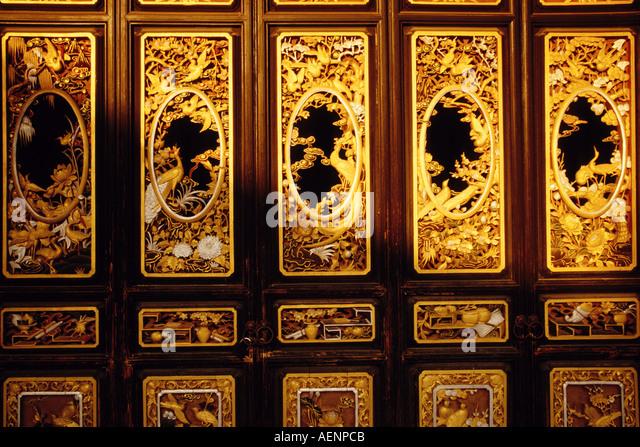 Jianshui Yunnan China Detail of ornate doors in Zhu Family Garden Qing dynasty merchant s residence & Ornate Qing Dynasty Doors Stock Photos u0026 Ornate Qing Dynasty Doors ... pezcame.com