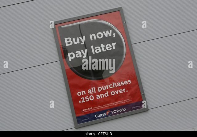 Buy now pay later dixons currys pcworld stock image