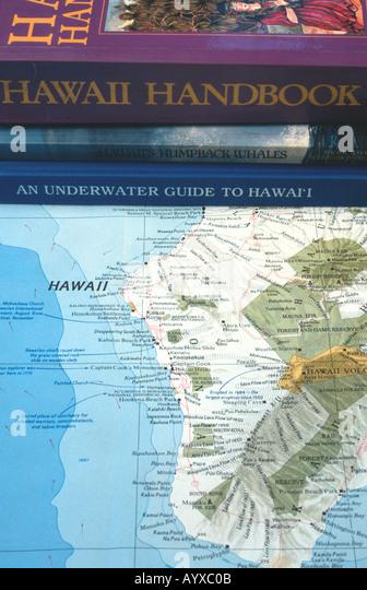 Hawaiian islands map stock photos hawaiian islands map for Hawaii fish guide