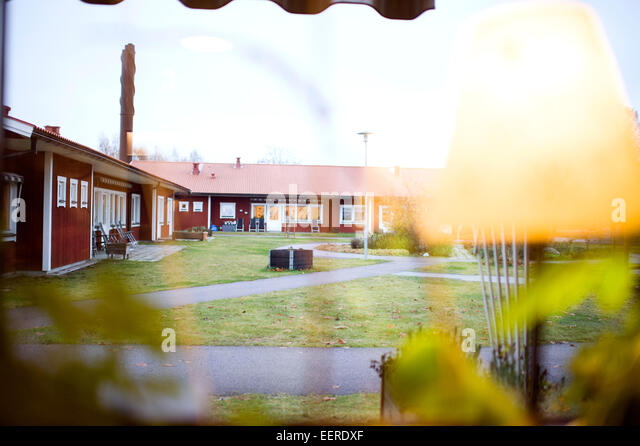 Nursing Home Garden, View From Window   Stock Image