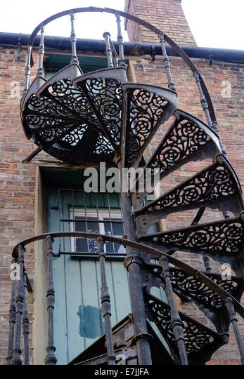 Marvelous Wrought Iron Spiral Stair Case   Stock Image