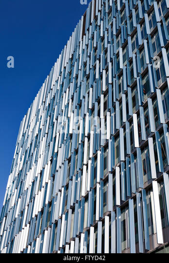 The Blue Fin Building facade in Bankside  London  Vertical Fins