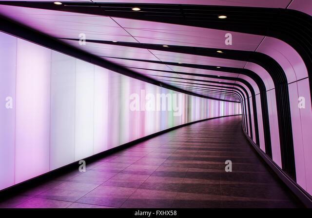 Light Wall Pedestrian Tunnel Kings Cross : The Tunnel King Stock Photos & The Tunnel King Stock Images - Alamy