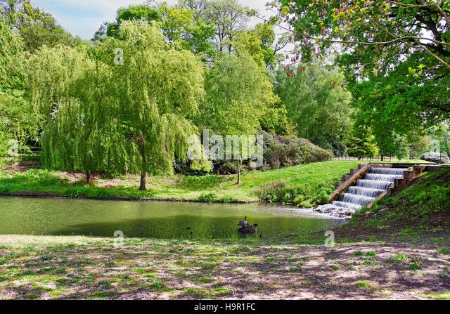 Leeds castle garden stock photos leeds castle garden for Garden pond kent
