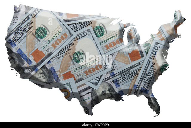 Usa Map And Money Stock Photos Usa Map And Money Stock Images - Us money map