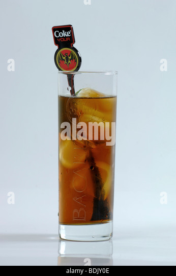 Bacardi stock photos bacardi stock images alamy for White rum with coke